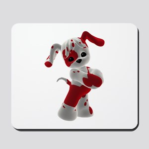 Red and White Puppy Mousepad