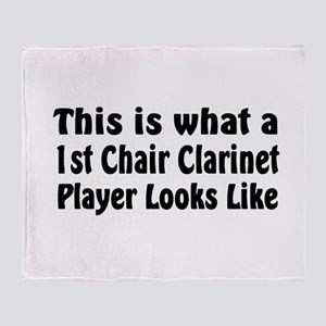1st Chair Clarinet Throw Blanket