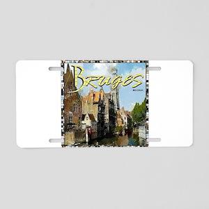 Bruges Belgium Aluminum License Plate