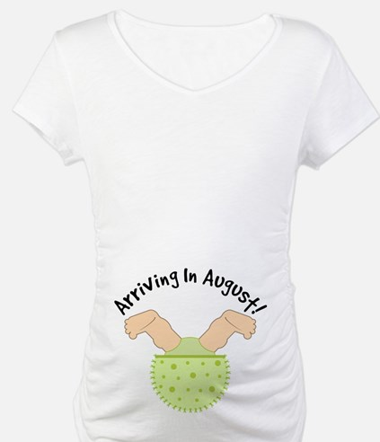 August Due Date Belly Print Maternity Tee