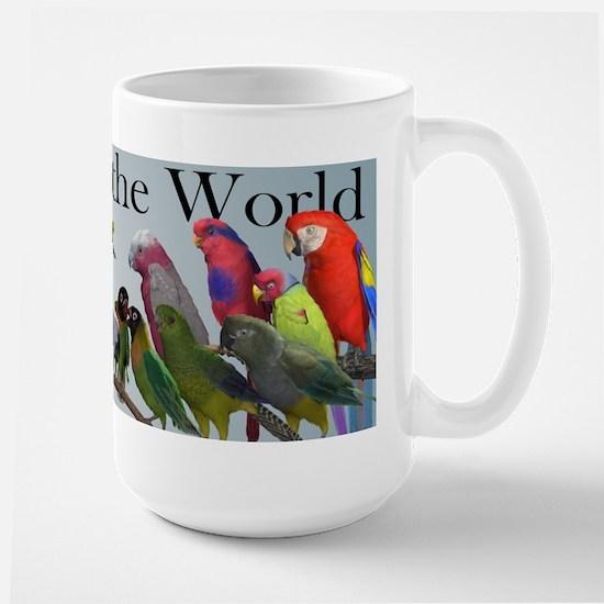 Parrots of the World Large Mug