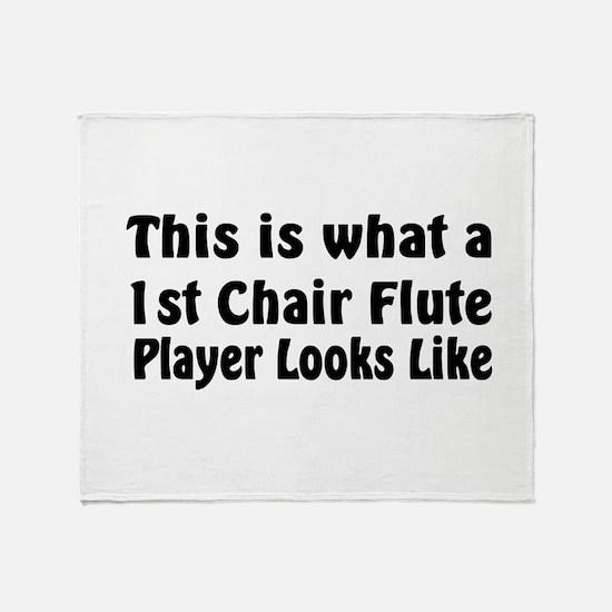1st Chair Flute Throw Blanket
