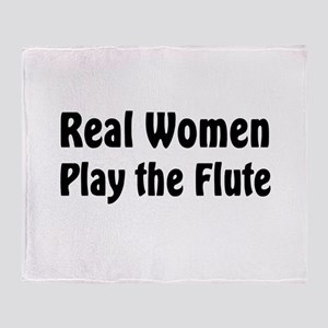 Real Women Play Throw Blanket