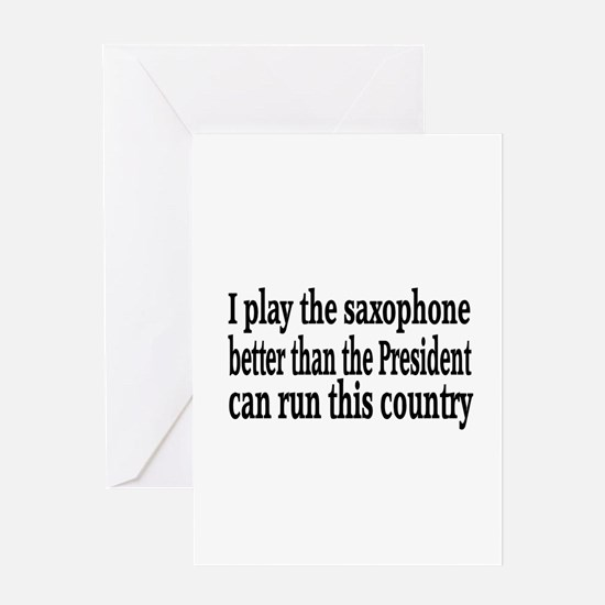Saxophone Greeting Card