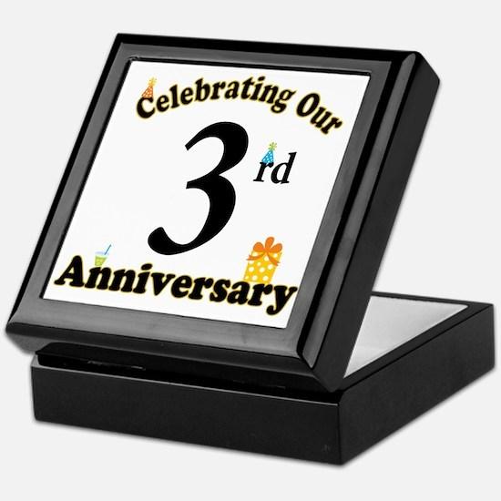 3rd Anniversary Party Gift Keepsake Box