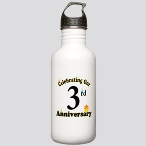 3rd Anniversary Party Gift Stainless Water Bottle