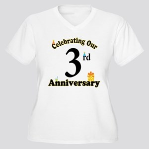 3rd Anniversary Party Gift Women's Plus Size V-Nec