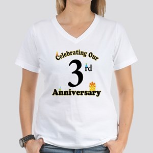 3rd Anniversary Party Gift Women's V-Neck T-Shirt