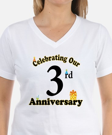 3rd Anniversary Party Gift Shirt