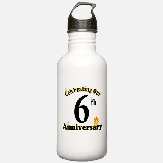 6th Anniversary Party Gift Water Bottle