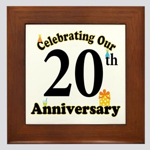 20th Anniversary Party Gift Framed Tile