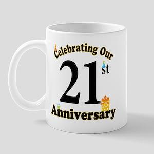 21st Anniversary Party Gift Mug