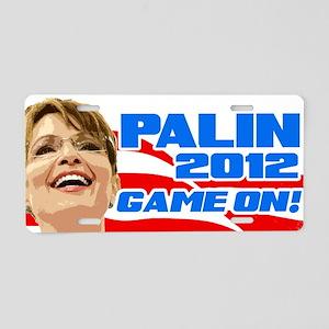 Game On! - Sarah Palin Aluminum License Plate