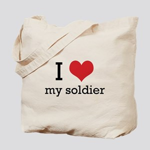 I heart my soldier Tote Bag