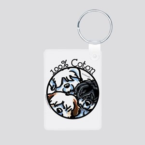 100% Coton Aluminum Photo Keychain