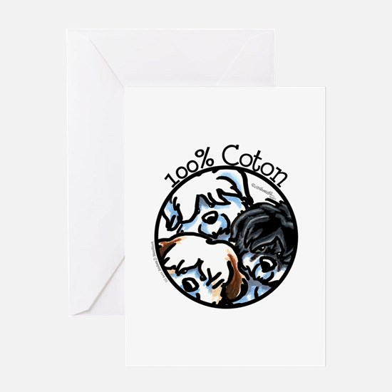100% Coton Greeting Card