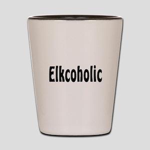 Elkcoholic Shot Glass