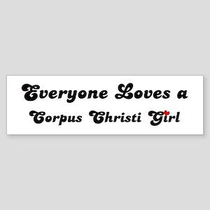 Loves Corpus Christi Girl Bumper Sticker