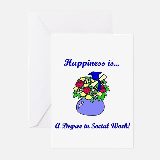 Social Work Degree Greeting Cards
