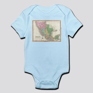 Vintage Map of Mexico (1827) Body Suit
