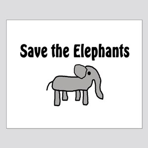Save the Elephants Small Poster