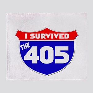 I survived the 405 Throw Blanket