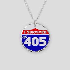 I survived the 405 Necklace Circle Charm