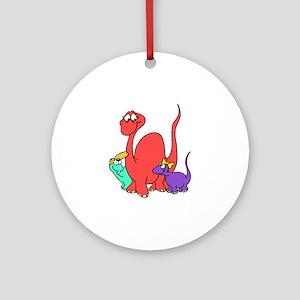 Dinosaur Family Ornament (Round)