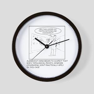 Topology Joke Wall Clock