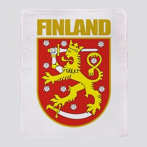 Finland COA Throw Blanket