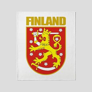 Finland COA Throw Blanket