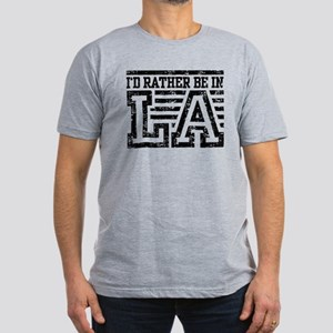 I'd Rather Be In LA Men's Fitted T-Shirt (dark)