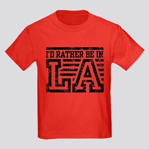 I'd Rather Be In LA Kids Dark T-Shirt