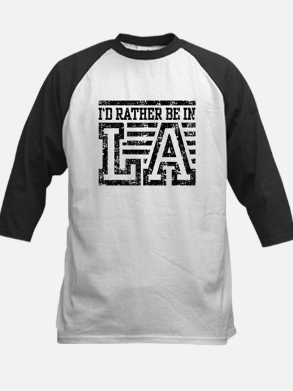 I'd Rather Be In LA Kids Baseball Jersey