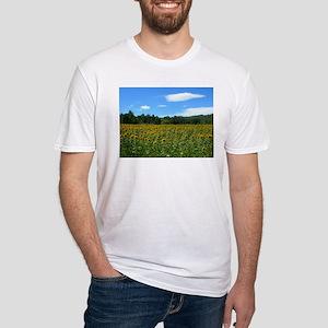 Sunflower Fields Fitted T-Shirt