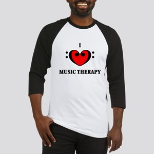 I Luv Music Therapy Baseball Jersey
