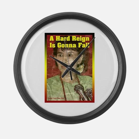 Funny Aung san suu kyi Large Wall Clock