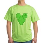 Afro Girl Green T-Shirt