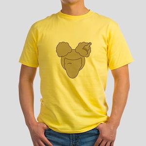 Afro Girl Yellow T-Shirt
