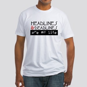 Headlines & Deadlines Fitted T-Shirt