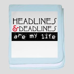 Headlines & Deadlines baby blanket