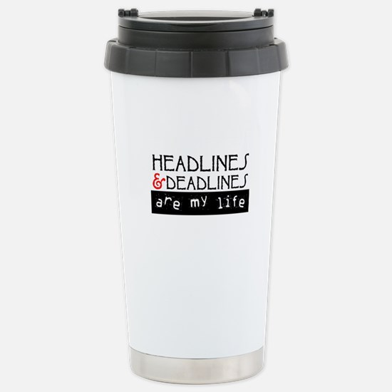 Headlines & Deadlines Stainless Steel Travel Mug