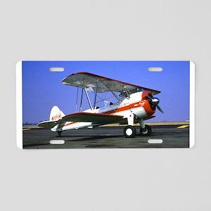 Bi-Plane Aluminum License Plate