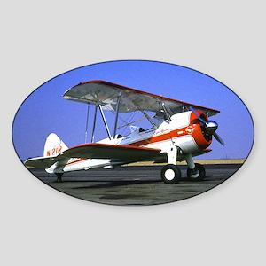Bi-Plane Sticker (Oval)
