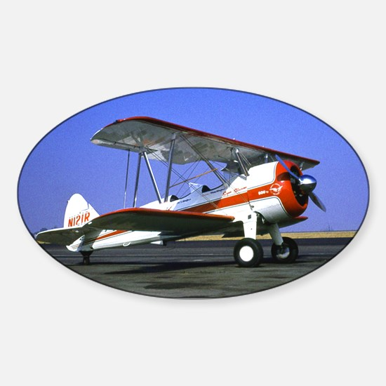 Bi-Plane Sticker (Oval)