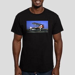 Bi-Plane Men's Fitted T-Shirt (dark)