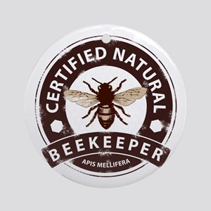 Certified Beekeeper Ornament (Round)