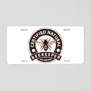 Certified Beekeeper Aluminum License Plate