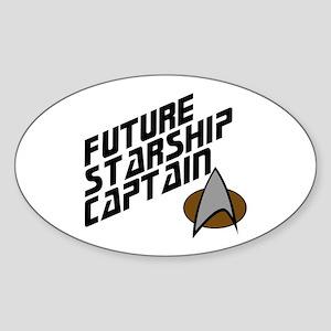 Future Starship Captain Sticker (Oval)