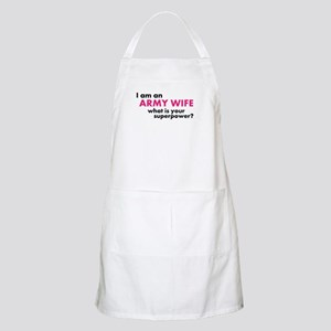 Super Powered Army Wife! Apron